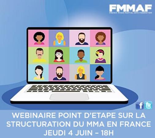 Webinar jeudi 4 juin à 18h – Point d'étape sur la structuration du MMA en France