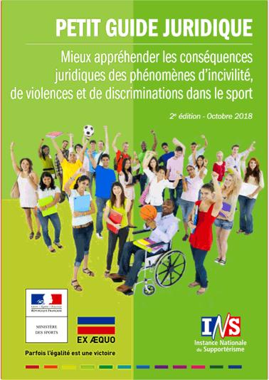 Guide juridique des phénomènes d'incivilité, de violences et de discriminations dans le sport