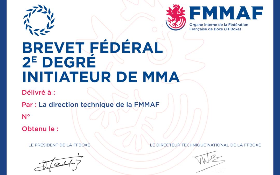 Formation diplômante MMA : une nouvelle étape décisive !