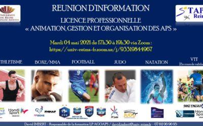 LICENCE PROFESSIONNELLE AGOAPS : Réunion d'information